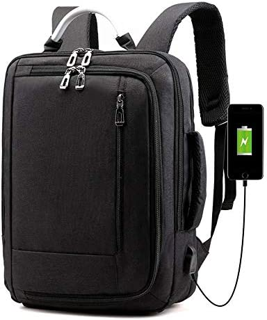 AMYHY Notebook-Computer-Rucksack, wasserdichte Business-Reise-Computer-Tasche, männlich/weiblich, College-Rucksack, USB-Anschluss, Arbeits-Laptop-Tasche Leichtgewicht (Color : Black)