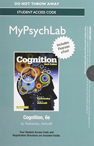 NEW MyPsychLab with Pearson eText --  Access Card -- for Cognition (6th Edition)