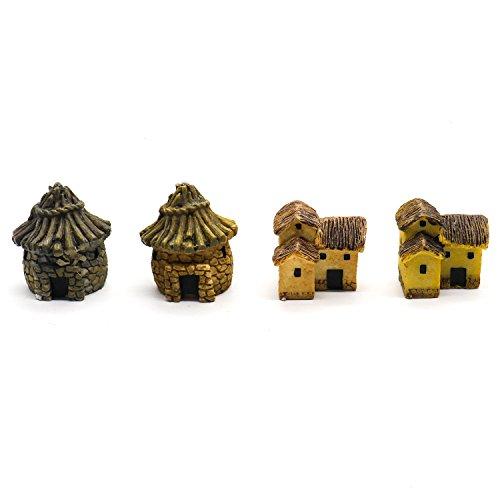 Buorsa 4Pack Mini DIY dollhouse miniatures cottage terrarium fairy garden gnome moss resin decorations for garden decoration - Resin Gnome