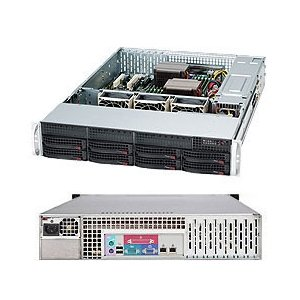 Supermicro 560 Watt 2U Rackmount Server Chassis (CSE-825TQ-563LPB) by Supermicro