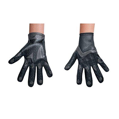 Black Power Ranger Movie Child Gloves, One (Kids Ninja Costumes Gloves)