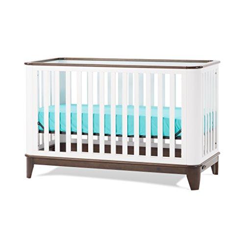 Child Craft Studio 4-in-1 Convertible Crib, Matte White/Slate