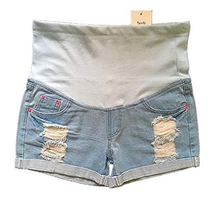 WNuanjun Pantalones Vaqueros Azules de Maternidad Ropa para ...
