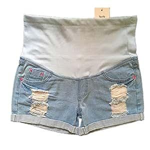 XXIAZHI, Pantalones Vaqueros Azules de Maternidad Ropa para ...