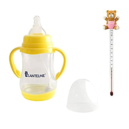 Lantelme 5634 Baby Botella y biberones Termómetro oso de peluche Rosa, Vidrio/Plástico