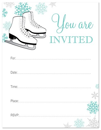 24 Ice Skating Fill in Invitations (Ice Skating Party Supplies compare prices)