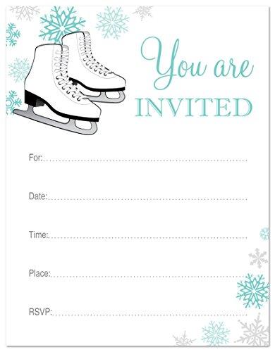 24 Ice Skating Fill Invitations product image