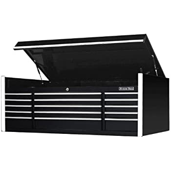 extreme tools ex7215chbk 15 drawer triple bank top chest with ball bearing slides. Black Bedroom Furniture Sets. Home Design Ideas