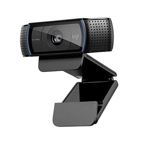 Logitech C920 HD Pro Webcam, Videoconferencias 1080P FULL HD 1080p/30 fps, Sonido Estéreo, Corrección de Iluminación HD…