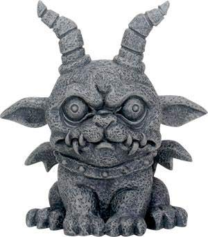 - SUMMIT COLLECTION 3.75 Inch Medieval Dark Grey Winged Gothic Gargoyle Guardian Agamon Desk and Shelf Decoration