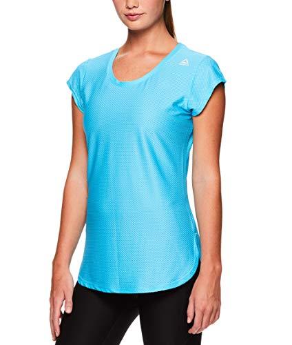 Reebok Women's Legend Performance Top Short Sleeve T-Shirt - Blue Atoll, Medium by Reebok