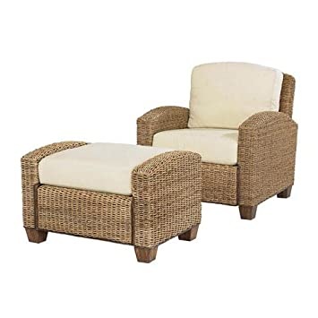 Home Styles 5401 100 Cabana Banana Chair And Ottoman, Honey Finish