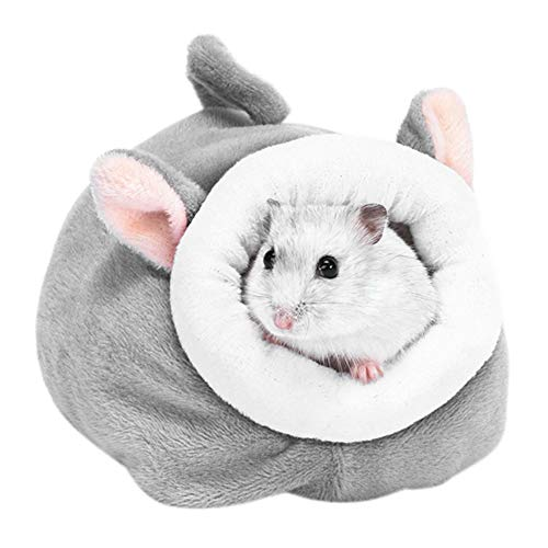 PanDaDa Lovely Animals Shape Hamster Bed Small Animals Cold Weather Furry Warm Bed