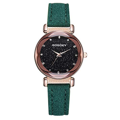 Fashion Simple Without Numeral Scale Starry Dial Dial Quartz Female Watch Watches for Women Simple Under 5 ❤ Best Gifts for Lovers