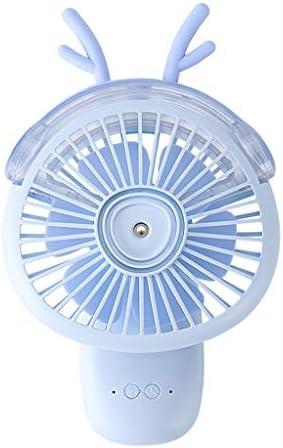 A69Q扇風機 ミニファン ミストファン 加湿器 卓上扇風機 携帯扇風機 手持ち扇風機 ハンドファン おしゃれ かわいい USB充電ファン 小型 アウトドアファン 熱中症 暑さ対策 静音 寝室/家庭/オフィス/アウトドア/旅行に適用(ブルー)