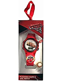 Disney Pixar Cars LCD Watch with Flashing Charm