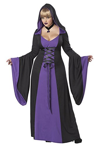 [Mememall Fashion Plus Size Purple Gothic Hooded Robe Women Adult Costume Vampire] (Plus Size Vampire Costumes)