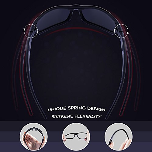 a6ddbf3c67 RIVBOS Polarized Sports Sunglasses Driving Sun Glasses Shades for Men Women  Tr 90 Unbreakable Frame for