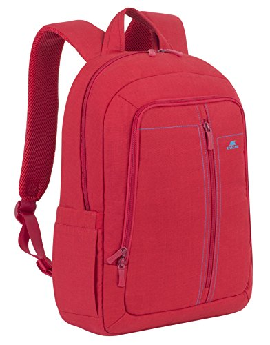 Rivacase 7560 15.6 Inch Laptop Backpack Slim Light Water Resistant Red Color