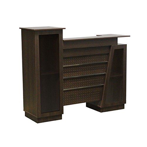 Salon Reception Counter Desk Beauty Furniture Retail Store Display Fixture Ships Knockdown Chocolate NEW by Bentley's Display