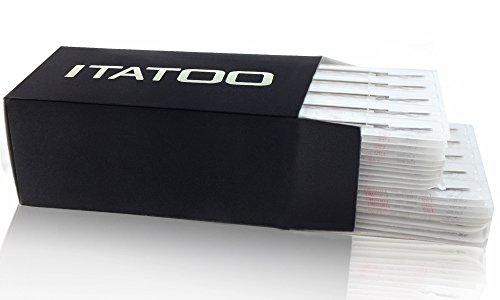 ITATOO® 100pcs Premium Quality Tattoo Needle Round Shader Pre Made Sterile Tattoo Needles (1215RS)
