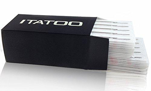 ITATOO® 100pcs Premium Quality Tattoo Needle Curved Magnum Shader Pre Made Sterile Tattoo Needles (1207RM)