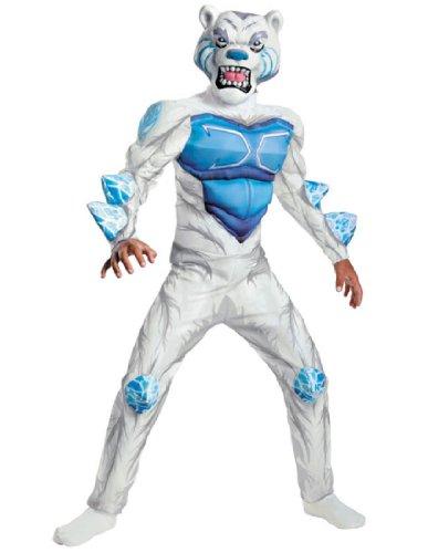 Monsuno Lock Monster Deluxe Costume, White/Blue, Large ()