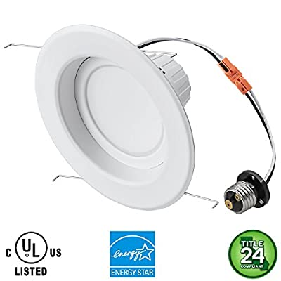 """SOCAL-LED 6-Pack 5""""-6"""" LED Downlight 15W (90W Equivalent) Recessed Lighting Retrofit Kit Ceiling Fixture, ENERGY STAR & UL Listed, Dimmable"""