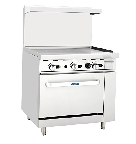 """ATOSA ATO-36G Natural Gas 36"""" Gas Range 36'' Griddle with..."""