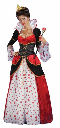 Forum Alice In Wonderland Queen Of Hearts Costume, Red, -