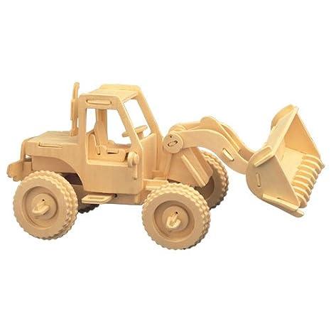 Harley I farbig 3D Holzbausatz Motorrad Fahrzeug Bausatz Holz Steck Puzzle