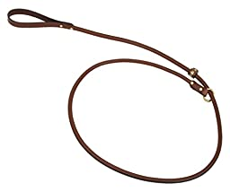 Mendota Products Leather Rolled Slip Lead, 3/4-Inch by 6-Feet, Chestnut