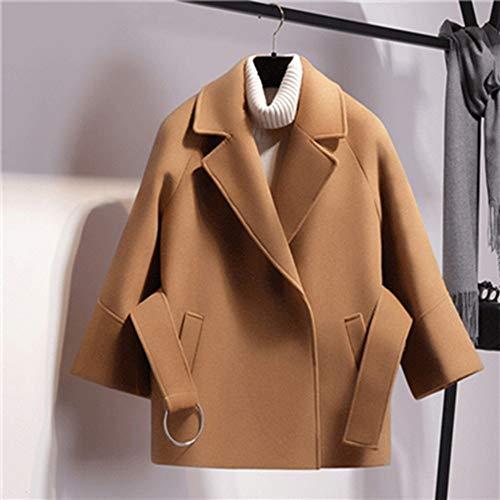 Femme Nouveau Élégant S Automne Raglan Cape Manches Simple Fxchen Vestes Court Bouton Hiver Femmes Manteau Veste wYC61xqg