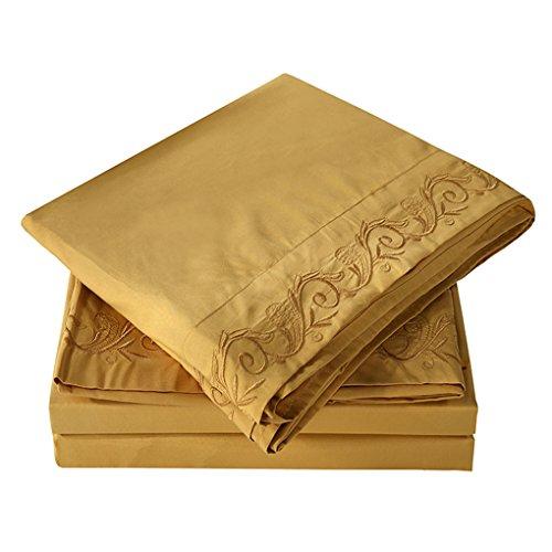 Delicate Topker 3 / 4ST Massiv Schlafzimmer Bettwäsche Set Spannbettuch  Matratze Schutzhülle Pillowcase Kit Startseite Bettbezüge