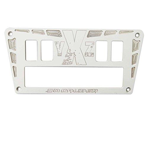Panel White Switches - 50 Caliber Racing 4 Switch Dash Panel - Powdercoated White - Fits 2015+ Yamaha YXZ 1000R [5357C3]