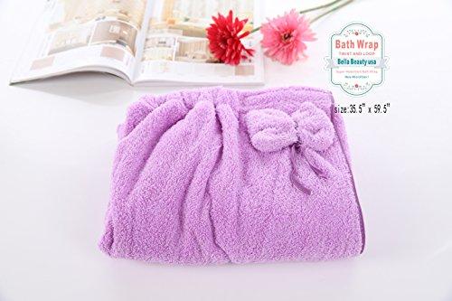 Bath Cozy Soft Plush Microfiber Bath Towel, Wrap for Women,spa Wrap,Wrap Bathing Quick Dry 35.5