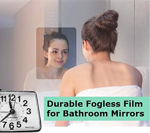 Fogless, Anti Fog Bathroom Mirror Films (2pcs) for Clear Vision with Squeegee, -