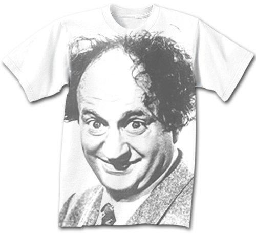 Three 3 Stooges Larry Fine T-shirt - White, XL