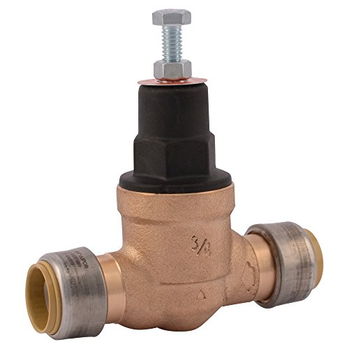 SharkBite 23858-0045 3/4 in. Bronze Direct Push-Fit Pressure Regulator