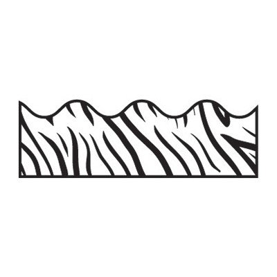 Zebra Print Scalloped Classroom Border [Set of 3] Scalloped Border Sets