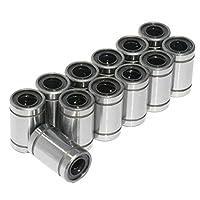 12 PCS/Lot LM8UU Linear Bushing 8mm Durable Linear Ball Bearing 3D Printer Parts LM8 CNC Parts Shaft Ball Bushings - Silver by SeniorMar