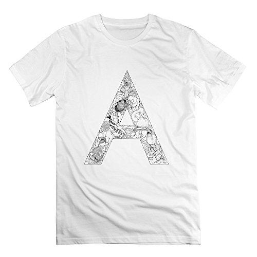enhui-male-letter-design-art-short-sleeve-v-neck-t-shirt-m-white