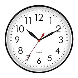 HyDy 10 Inch Large 3D Numbers Wall Clock, Silent Non-Ticking Quartz Wall Clocks Battery Operated Modern Style Decorative for Kitchen/Living Room/Bedroom/Bathroom/Office
