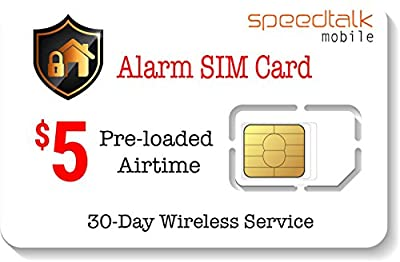 $5 Prepaid Alarm SIM Card for GSM Home Security Alarm System + GPS Tracker