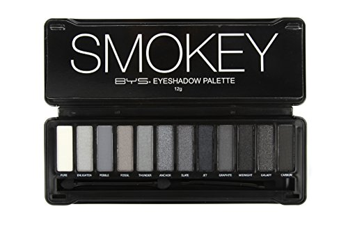 BYS 12 Color Eyeshadow Palette, Nude Smokey, 3 Ounce