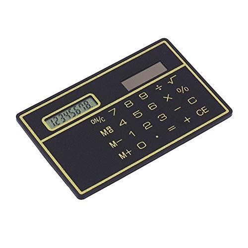 Calculadora de energ/ía solar ultrafina de 8 d/ígitos con pantalla t/áctil Calculadora port/átil de dise/ño de tarjeta de cr/édito para escuela comercial