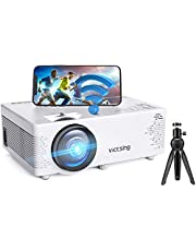 VicTsing Mini Projector Bluetooth, Movie Portable Projector Phone WiFi Projector with Tripod, Full HD 1080P Supported, Video Home Projector with TV Stick/Phones/PS4/TV Box/HDMI for Bedroom & Outdoor