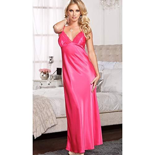 Sexy Deep V-neck Women Lingerie Sleepwear Underwear Nightgown Nightdress Lace Patchwork Bralette Braces Skirt Nightwear