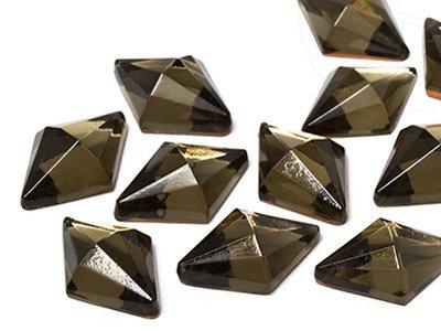 Star Bright Strasssteine | Schmucksteine No-Hotfix 13.0 x 18.0mm, Navette, Black Diamond, 90 Stück