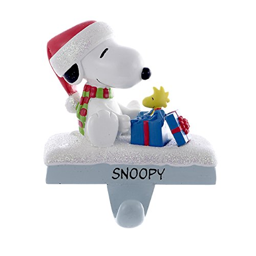 Peanuts Kurt Adler Snoopy and Woodstock Stocking Holder, 4.6-Inch